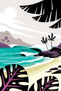Art Portfolio: Browse through over 600 works of art by Oregon artist Erik Abel. Ocean Art, Animal Art, Tiki faces, Works on paper, Surf Art and digital illustrations. Portfolio D'art, Deco Surf, Art Tropical, Tiki Art, Hawaiian Art, Surf Art, Ocean Art, Illustrations And Posters, Beach Art
