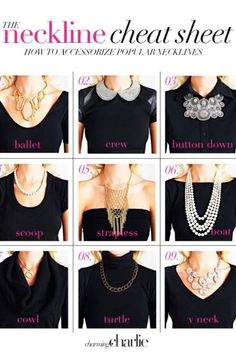 How to match your necklace with your neckline.