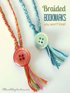 How to make braided bookmarks you won't lose!   Little Worlds
