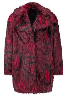 KARL LAGERFELD ADRIANA Płaszcz zimowy bordeaux