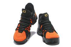 Shop Nike KD 10 China Exclusive Black Orange Gold Mens Basketball Shoes  2018 On Line