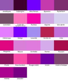 1000+ images about Nuancier on Pinterest  Violets, Du bois and ...