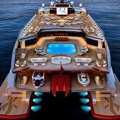 278-foot catamaran concept has room for EVERYTHING. #yachting #catamaran #luxurylifestyle