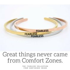 Great things never came from Comfort Zones..... The Fearless Collection from Confidence Beads. Available at link in profile. #fearless #confidence #runners #marathons #life #tuesdaymotivation #inspiration #baahalf #baystatemarathon #dukecitymarathon