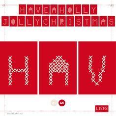 Have A Holly Jolly Christmas ♡ Feest!Dagen ♡ Thema Anja ♡ Maak ook je eigen slinger! www.LiefsLabel.nl