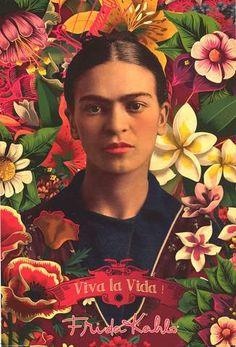 A beautiful Frida Kahlo poster! A floral portrait of the Mexican painter, folk artist, and activist - Viva La Vida! Need Poster Mounts. Collage Poster, Art Posters, Kahlo Paintings, Frida Art, Top Christmas Gifts, Custom Framing, Art Prints, Illustration, Street Art