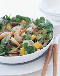 Shimp and Papaya salad: One of my favorites, and I always sub mango for papaya and macadamia nuts for cashews