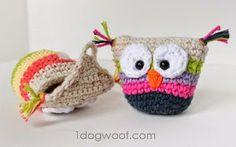 2000 Free Amigurumi Patterns: Crochet owl pouch