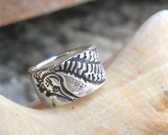 Beach Jewelry, Sterling Silver Seahorse Ring by HappyGoLicky $69 | CLICK pic to buy & use coupon code PIN10 to save 10% now on www.HappyGoLickyJewelry.com #Beach #Seahorse #Summer