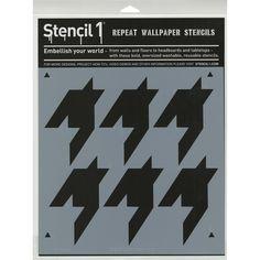 Stencil1 11inX11in Stencil Houndstooth
