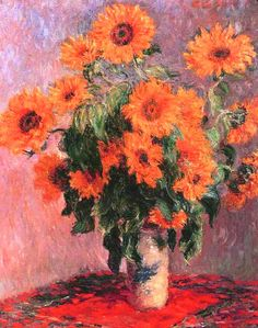 Claude Monet: Sunflowers 1881
