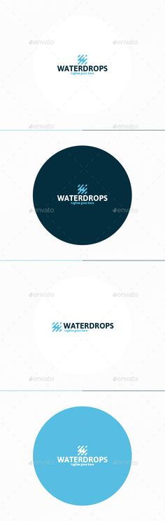 Water Drops Logo Template #design #logotype Download: http://graphicriver.net/item/water-drops-logo/11871732?ref=ksioks