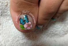 New Nail Art Design, Nail Art Designs, Pedicure Nails, Manicure, Summer Toe Nails, Toe Nail Art, Blue Nails, Opi, Hair Beauty