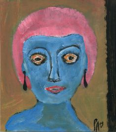 Ein weiterer Kopf von Peter Ammon Outsider Art, The Outsiders, Painting, Random Stuff, Painting Art, Paintings, Painted Canvas, Drawings