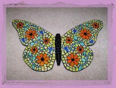 Mosaic butterfly by Meaco's Art Garden, via Flickr