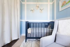 Blue Crib, Baby Boy Nurseries, Baby Rooms, Kids Decor, Home Decor, Nursery Inspiration, New Parents, Baby Love, Cribs