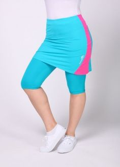 Turquoise Running skirt with leggings #ActiveSkirts
