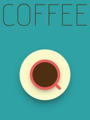 Vector Minimal Design - Coffee vector art illustration