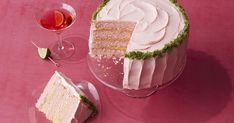 Cranberry layer cake with lime curd filling and a splash of Triple Sec.