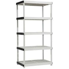 5-shelf 24 In. D X 36 In. W X 72 In. H Plastic Ventilated Storage Shelving Unit