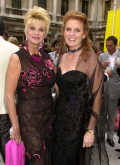 Sarah Ferguson and Ivana Trump