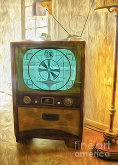 Old TV sign off. back when tv went off every night. oh how did we manage.