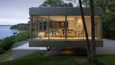 Contemporary glass and steel haven on 6 acres overlooking the Peconic Bay. // Clear House | Stuart Parr Design