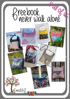nEmadA: Never walk alone Bag Patterns To Sew, Sewing Patterns Free, Sewing Tutorials, Free Pattern, Sewing Projects, Sewing Ideas, Diy Handmade Bags, Diy Bags No Sew, Sew Bags