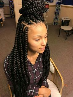Braids With Bead Embellishments - 40 Best Big Box Braids Hairstyles Short Box Braids, Blonde Box Braids, Jumbo Box Braids, Braids For Black Hair, Long Braids, Large Box Braids, Medium Box Braids, Short Hair, African Braids Hairstyles