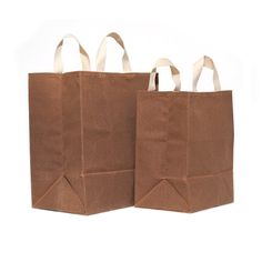 4d6c6f92e SET of Two Market Bags    Waxed Canvas Bags    Reusable Grocery Bags     Brown Bag