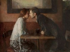 Stollen Kiss  -  Ron Hicks American painter  b.1965Impressionism