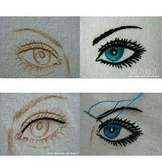 #눈 #일러스트자수 #소금빛자수 #모사자수실 #손끝에서피는꽃과자수 #입체자수꽃나무열매 #eye #embroidery