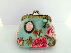 Monedero tela -camafeo rosa - de La Tienda Vintage de Kima por DaWanda.com