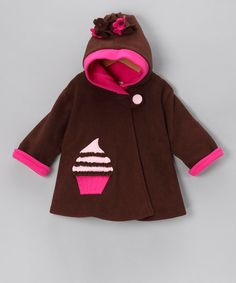 Take a look at this Brown & Watermelon Cupcake Swing Coat - Infant, Toddler & Girls by Corky & Company on #zulily today!