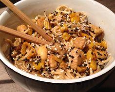 NOODLES ΚΟΤΟΠΟΥΛΟΥ ΜΕ ΓΑΛΑ ΚΑΡΥΔΑΣ Black Eyed Peas, Noodles, Stuffed Mushrooms, Vegetables, Food, Macaroni, Stuff Mushrooms, Essen, Vegetable Recipes