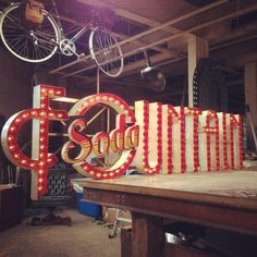 """""""Some beautiful typography and signage from Sideshow Sign Co. Signage Design, Typography Design, Lettering, Care Bear Tattoos, Signage Board, Fountain Design, Sign Maker, Grid Design, Design Art"""