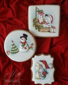 Cute Christmas cookies done to perfection by Mézesmanna