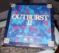 Vintage 1991 Outburst II board game published by Tv Show Games, Games Box, Games To Play, Bored Games, Cribbage Board, Vintage Board Games, Verbatim, Family Feud, Family Games