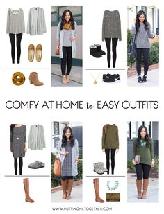 mom style Comfy At-Home Outfits to Going Out Looks Made Easy + Reminder for PMT Style Challenge Cute Comfy Outfits, Simple Outfits, Fall Outfits, Casual Outfits, Comfy Clothes, Stylish Mom Outfits, Look Fashion, Autumn Fashion, Fashion Outfits