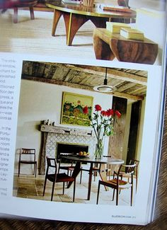 One Of Our Custom Zinc Tables In Elle Decor