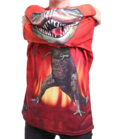 Take a look at this T-Rex Hooded Tee - Toddler & Kids  by Mouth Man on #zulily today!