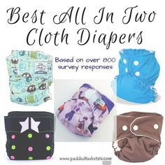 Best All In Two Cloth Diapers. See which diapers had the highest scores based on over 800 surveys filled out by cloth diapering parents! Cloth Diaper Reviews, Best Cloth Diapers, Reusable Diapers, Diaper Brands, Disposable Diapers, Sleep Sacks, Training Pants, Baby Gear, No Response