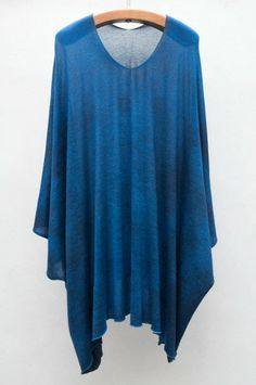 Blue Poncho by Avant Toi | shopheist.com