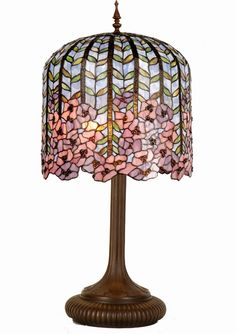 Wisteria Tiffany Lamp by Tiffany Lighting Direct. Discover our range of Tiffany Lamp, Art Deco and Traditional Lighting, free delivery. Tiffany Glass, Tiffany Art, Louis Comfort Tiffany, Red Light Bulbs, Tiffany Table Lamps, Large Lamps, Retro Lamp, Bright Homes, Direct Lighting