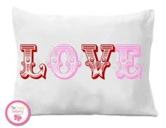 LOVE Personalized Pillow case Valentines Day #love #valentinesday #sweetheart