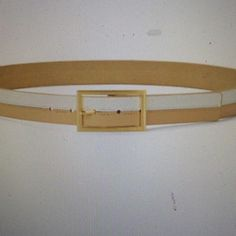 Vince Camuto  two-tone leather belt NWT Vince Camuto two-tone leather belt. White and sand, 1.25 inches wide, leather. NWT Price is firm Vince Camuto Accessories Belts