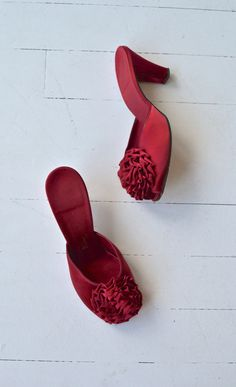 Ruby Rose boudoir heels vintage 1950s shoes 50s by DearGolden