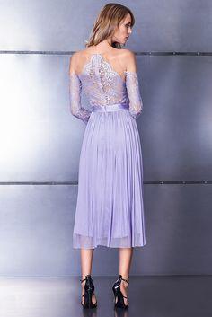 CRISTALLINI SKA566 MIDI - A pastel fantasy, with a midi skirt inspired by the…