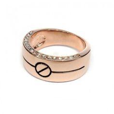 Interesting Bolt Crystal Ring!