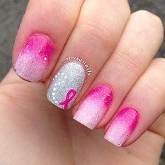 Breast Cancer Awareness by __instanails__  #nail #nails #nailart